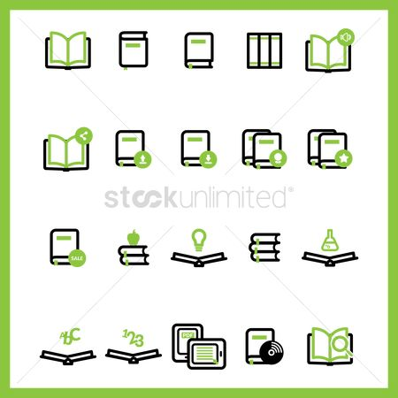 Apple : Book icon collection