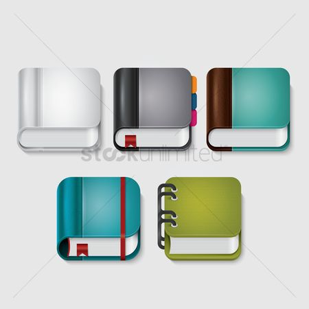 Notebooks : Book icons