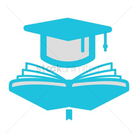 Hardcovers : Book with mortar board