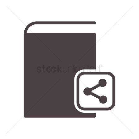 Hardcovers : Book with share icon