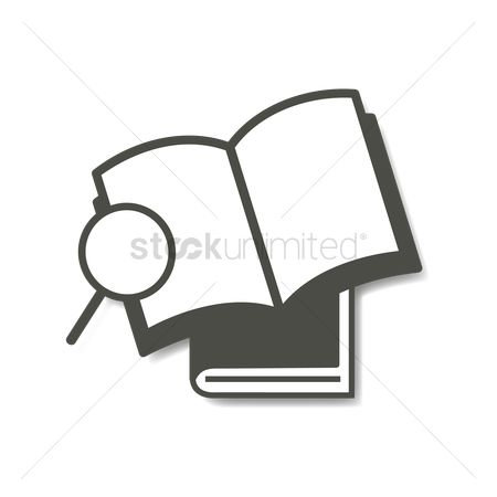 Supply : Books with magnifying glass
