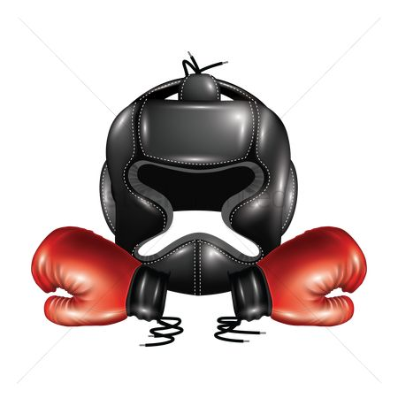 Boxing glove : Boxing helmet with gloves