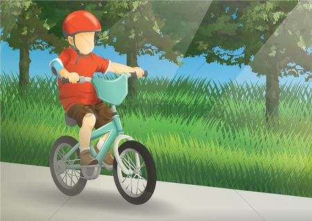 Pad : Boy riding a bicycle