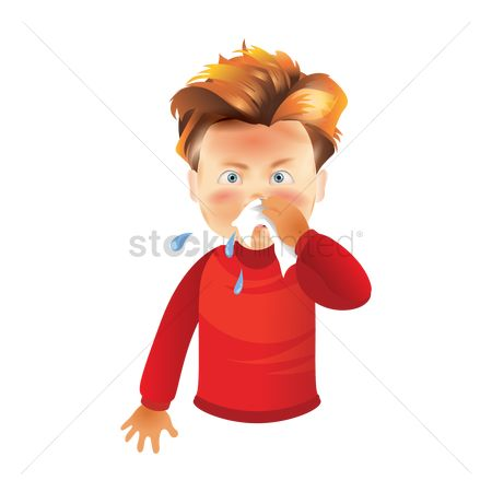 Cloth : Boy with runny nose