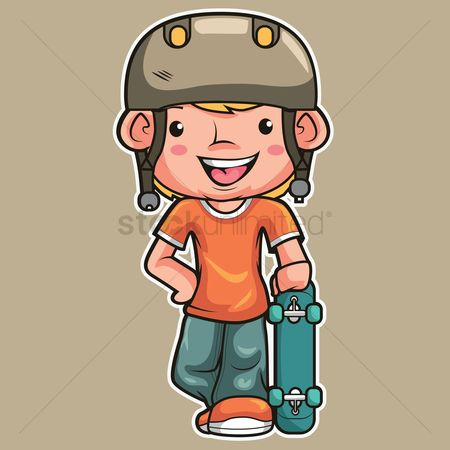 Skateboard : Boy with skateboard