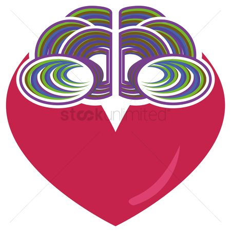 Heart : Brain and heart concept