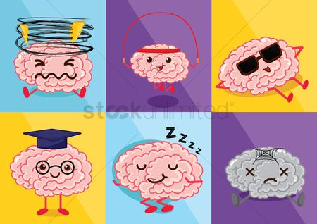 Smart : Brain cartoon character