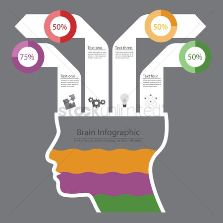 Head : Brain infographic