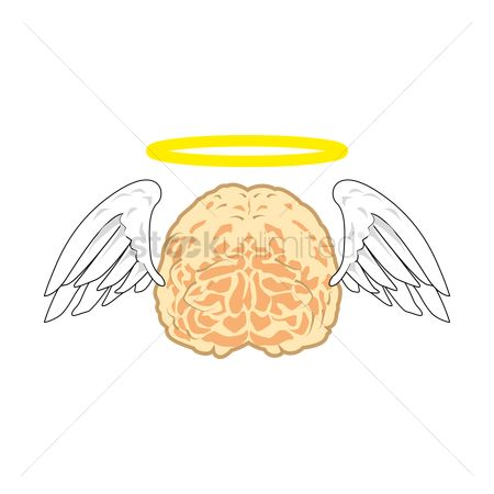 Halo : Brain with halo and wings