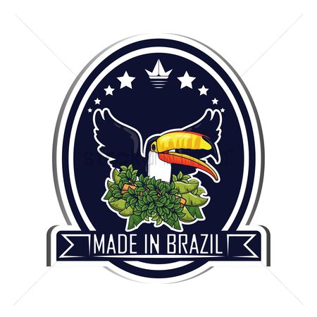 Toco toucan : Brazil label