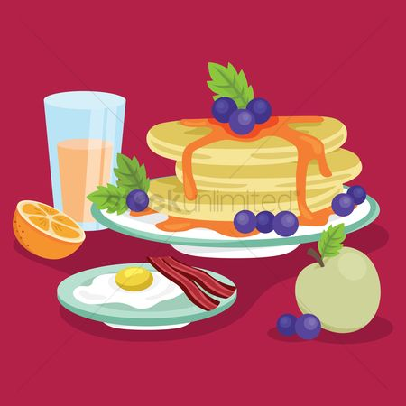 Blueberry : Breakfast set