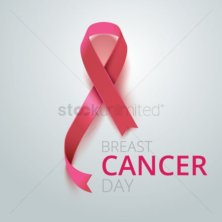Aware : Breast cancer day ribbon design