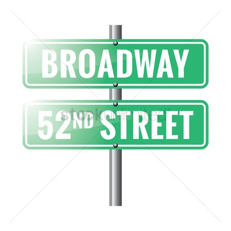 Roadsigns : Broadway road sign
