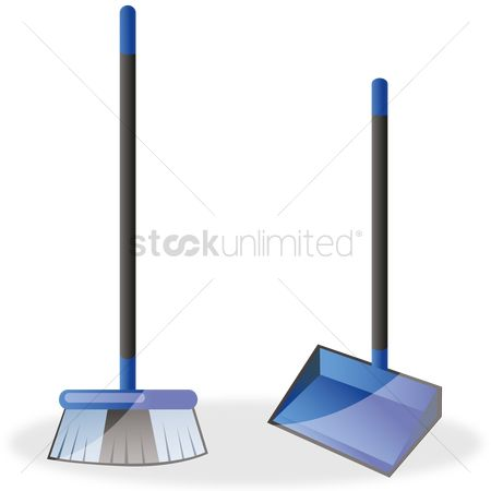 Clean : Broom and dustpan