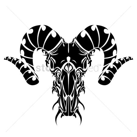 Bull : Bull horns tattoo