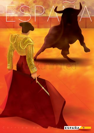 Cloth : Bullfighter poster
