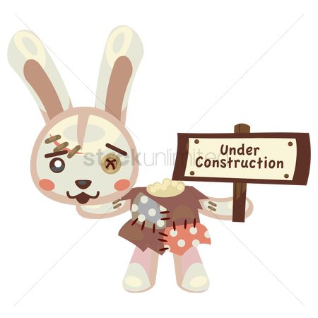 Hare : Bunny with sign board