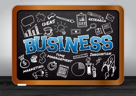 Blackboard : Business education concept