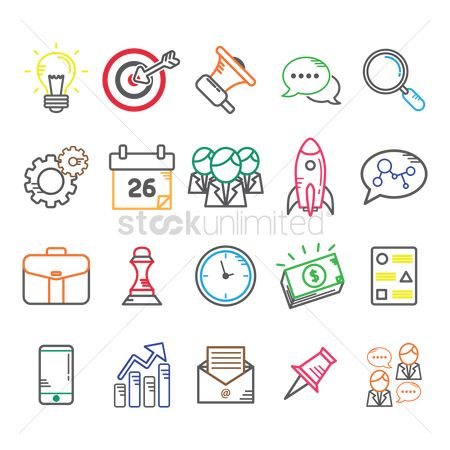 Communication : Business icon set