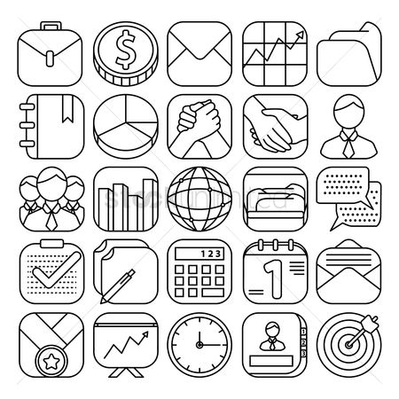 Open : Business icons collection