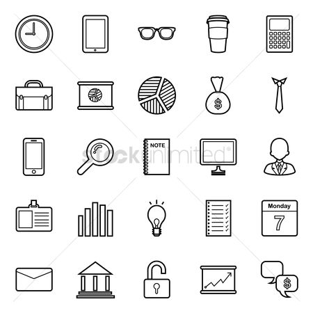 Monday : Business icons