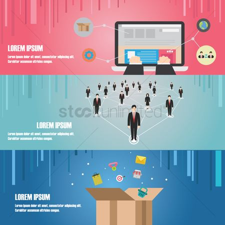 Copy space : Business infographic