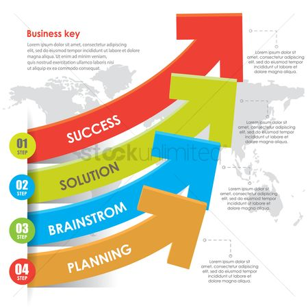Business strategy : Business infographic
