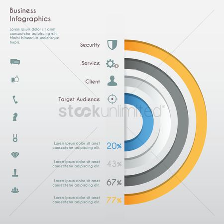 Service : Business infographics