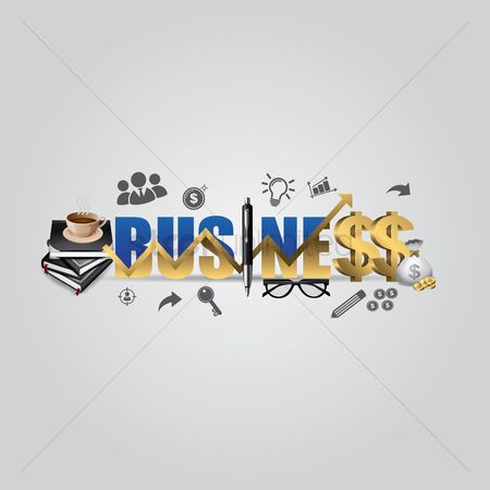 Businesspeople : Business lettering design