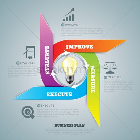 Increase : Business plan infographic design