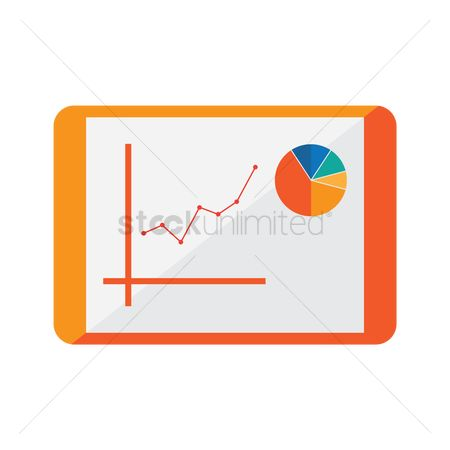 Increase : Business presentation chart on tablet pc