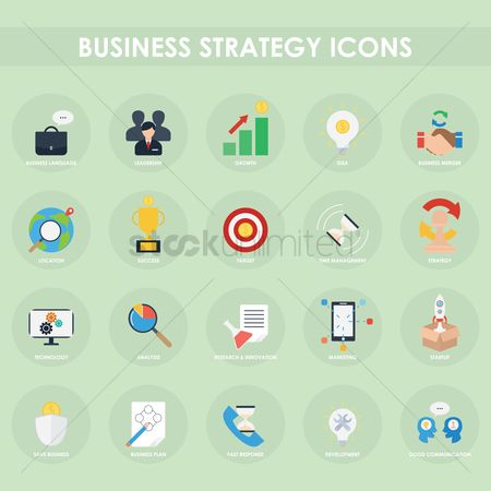 Communication : Business strategy icon