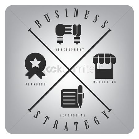 Market : Business strategy icons