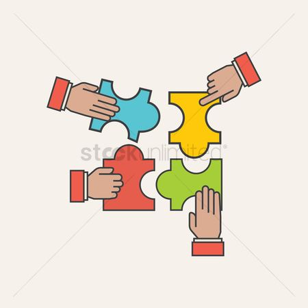 Jigsaw : Business teamwork concept