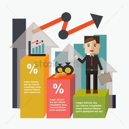 Exchanges : Businessman and infographic