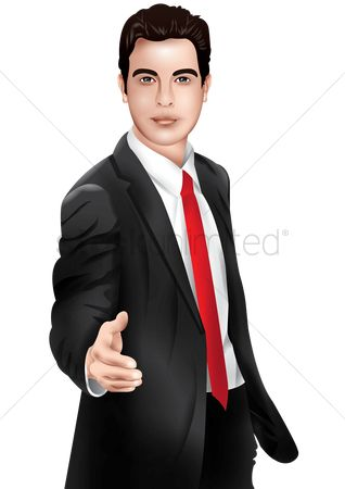 Smart : Businessman offering a handshake
