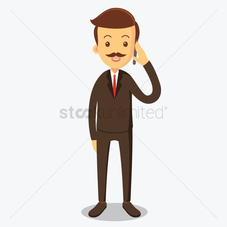 Managers : Businessman on phone