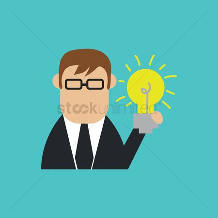 Halogen : Businessman with bulb
