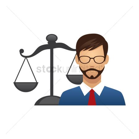 Smart : Businessman with scales of justice
