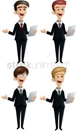 Managers : Businessmen holding tablet