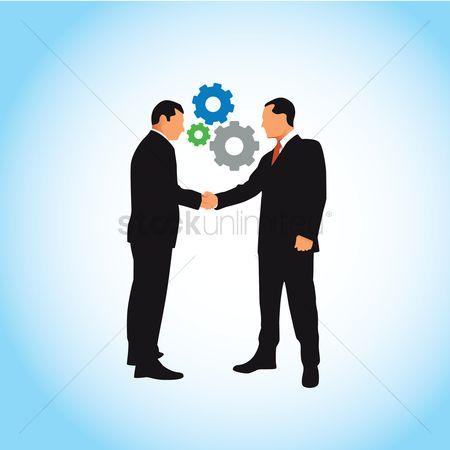 Business deal : Businessmen shaking hands with each other