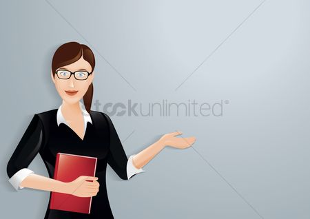 Businesspeople : Businesswoman holding a book