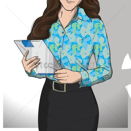 Pad : Businesswoman holding clipboard