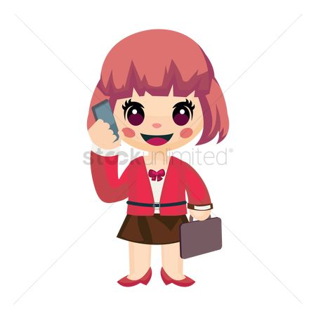 Calling : Businesswoman talking on phone