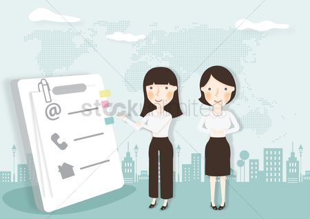 Executive : Businesswomen with a document