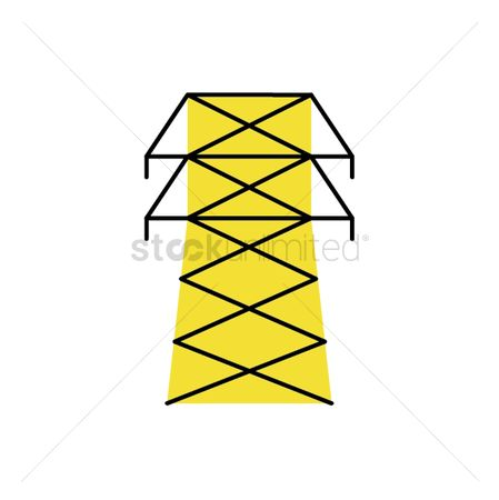Charging icon : Cable tower