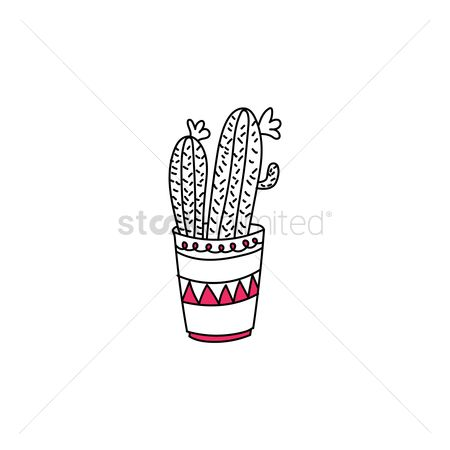 Flower pot : Cactus icon
