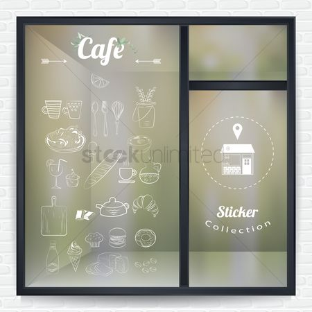 Fork : Cafe sticker collection