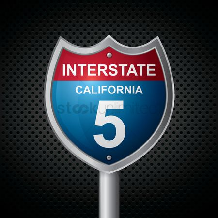 Interstates : California 5 route sign