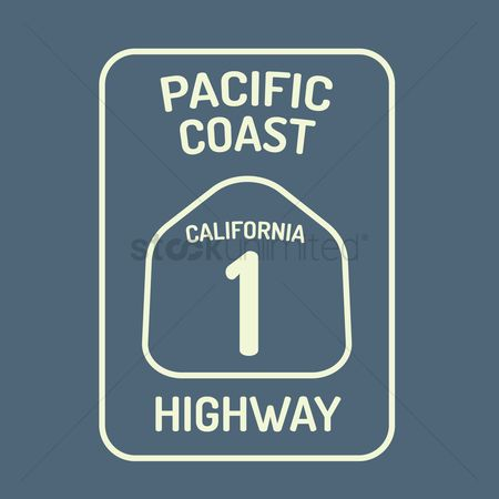 Coast : California highway route sign